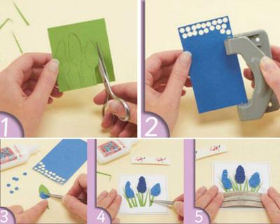Cách làm thiệp nổi hoa oải hương