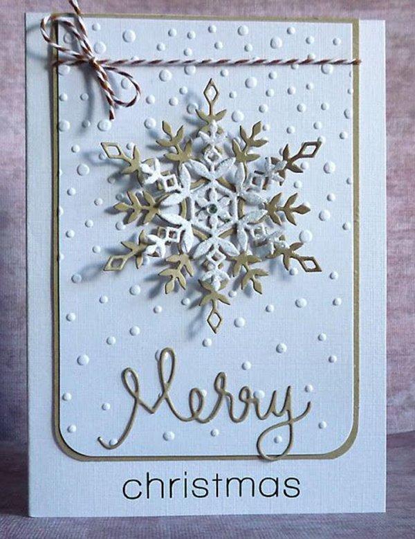 Cách làm thiệp giáng sinh cho người yêu hình bông tuyết