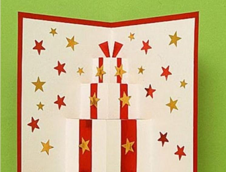 Cách làm thiệp nổi Giáng sinh, Noel 3D đẹp mà cực đơn giản