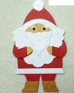 Hướng dẫn làm thiệp giáng sinh ông già Noel phát quà SIÊU dễ thương