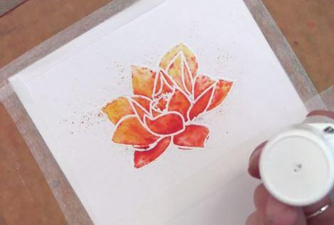 Cách làm thiệp sinh nhật vẽ tay ĐỘC ĐÁO bằng hộp màu nước đơn giản