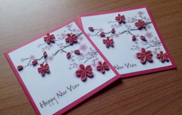 Hướng dẫn thiệp năm mới Handmade tự làm đơn giản mà đẹp