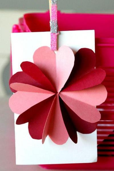 Thiệp sinh nhật dễ làm hoa nổi