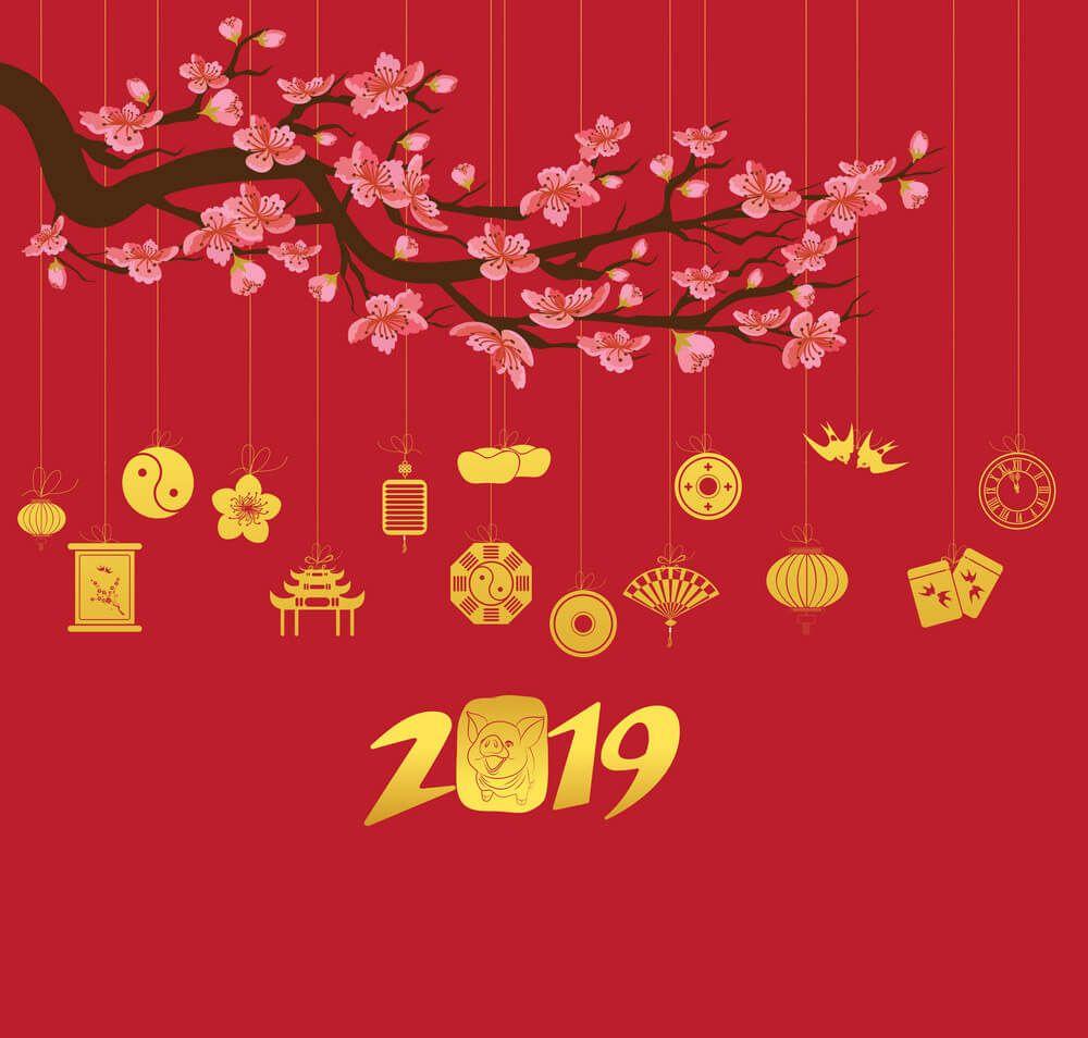 những mẫu thiệp năm mới đơn giản năm 2019