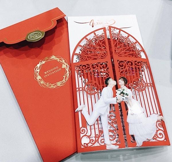 Mẫu thiệp cưới đẹp và lạ , độc đáo của cặp đôi Trấn Thành -Hari Won