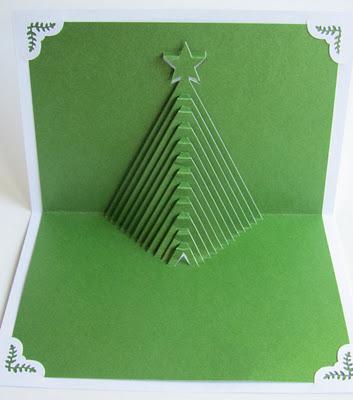 Thiệp cây thông Noel 3D