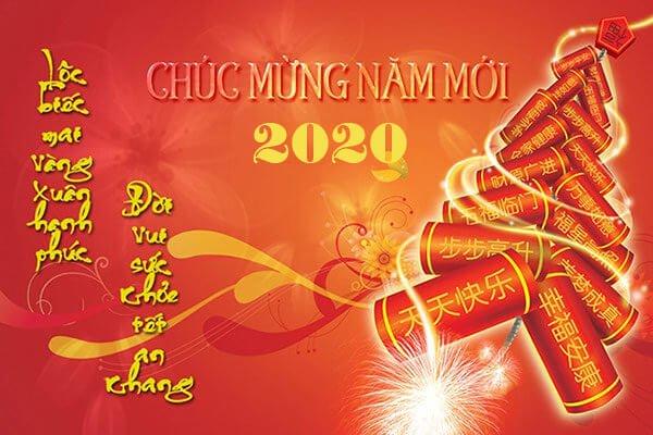 thiệp chúc mừng năm mới sang trọng chào xuân Canh Tý