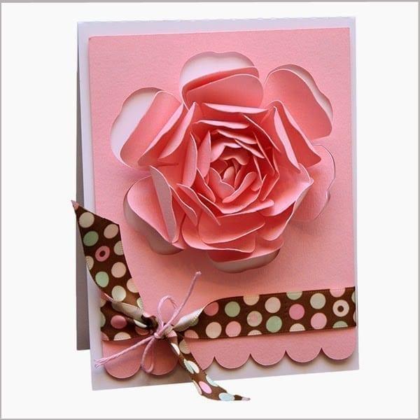 Cách làm thiệp hoa hồng 3D đẹp ấn tượng