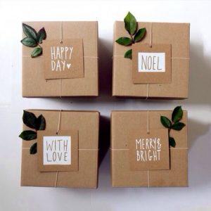 Chiêm ngưỡng cách gói quà từ giấy kraft gói quà độc đáo