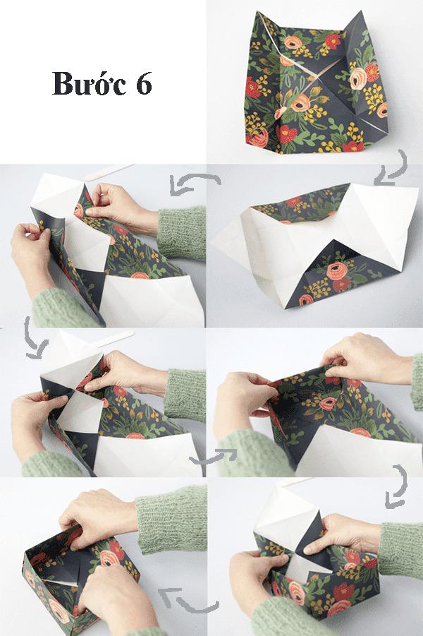 Top 3 cách gấp hộp giấy có nắp đẹp mắt thu hút mọi ánh nhìn