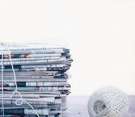 Cách tận dụng giấy gói quà báo để có ích cho cuộc sống