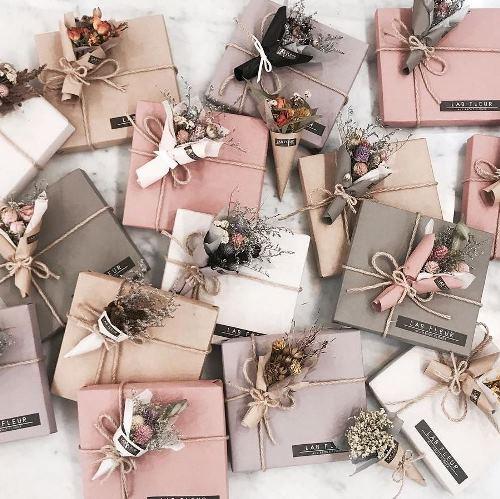 Các mẫu giấy gói quà Vintage, giấy gói hoa Vintage đẹp