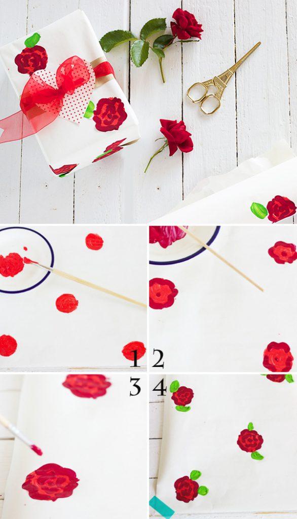 Cách tự chế giấy gói quà hoa hồng
