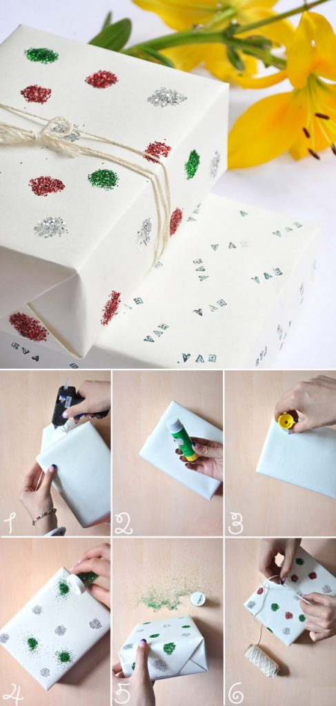 Cách tự chế giấy gói qùa kim tuyến